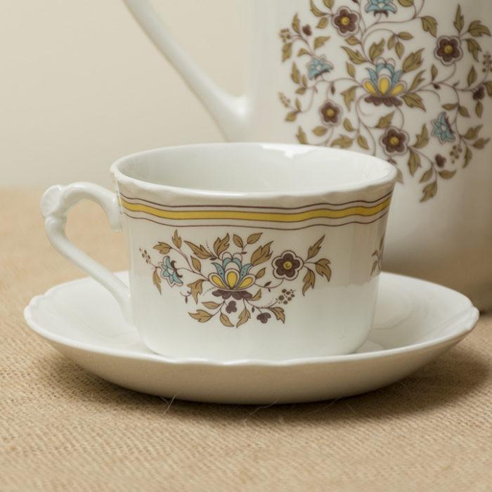Juego cafe porcelana-porcelain-antique- antigua vintage Pontesa