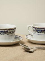 juego tazas café azul intenso Pontesa