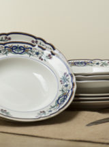 Porcelain vintage-Platos porcelana antigua vintage Pontesa