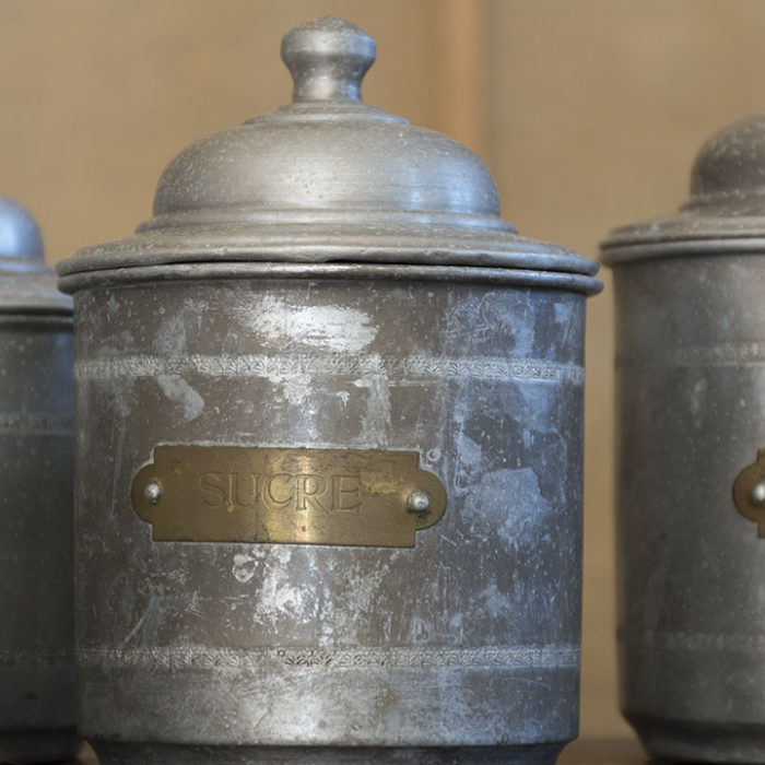 Juego-botes-cocina-antiguos-aluminio-Francia-www.timesmarket.es